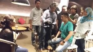 Praktek mmbuat video jurnalistik
