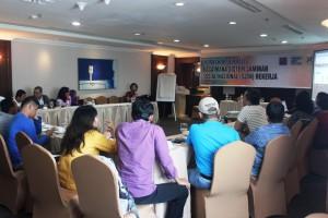 AJI Pekanbaru taja workshop Sistem Jaminan Sosial Nasional, 13-14 Maret 2015, di Pekanbaru
