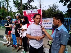 Ketua AJI Pekanbaru diwawancarai rekan sejawat, soal kebebasan pers